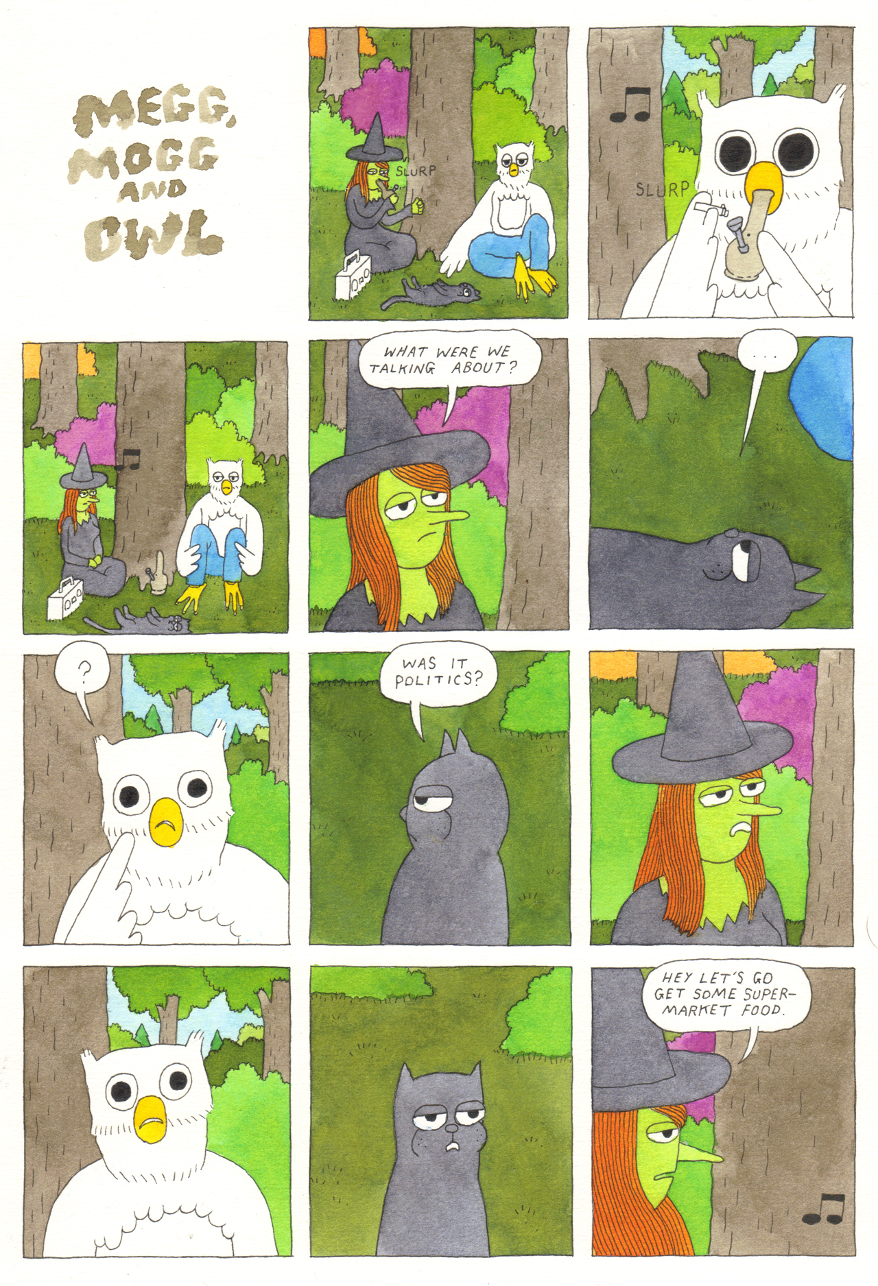 Simon Hanselmann - comic Meg, Mogg and Owl - Dirt