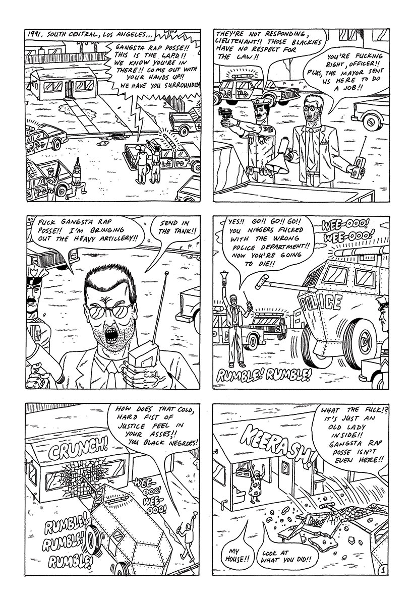 Benjamin Marra comic - Gangsta Rap Posse